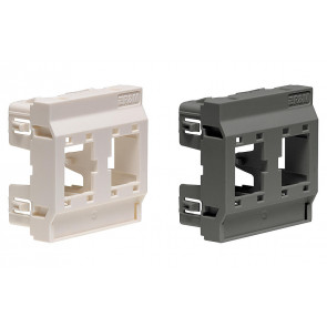 Plastron simple/double droit blanc clips. 2 sens