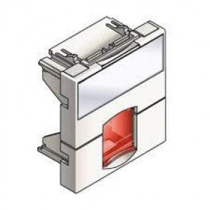 Actassi - support non-adaptable 45x45mm blanc polaire - volet rouge
