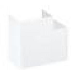 Angle plat fixe 160x55 - Blanc neige