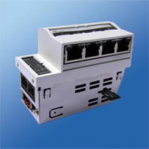 Managed Gigabit Switch 45x90,  4x10/100/1000 TP + 1x10/100/1000 TP, 1x 100/1000