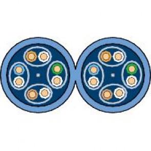 Actassi - cable CL-MNC Cat 6 U/FTP - 2x4 paires - 100Ù 300Mhz - bleu LSZH - 500m