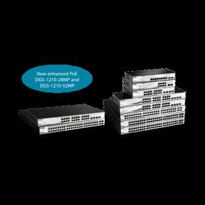 Smart 8 ports Gigabit PoE + 2 ports SFP - PoE 802.3af - Budget PoE 45W