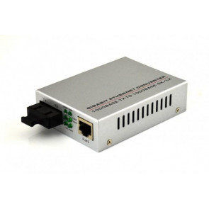10/100/1000, Dual-fiber single-mode, 1310nm over 20km, Connector LC. Power Exter