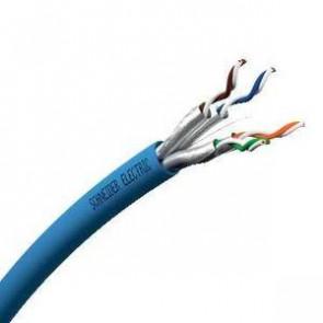 Actassi - cable CL-MNC Cat 6A U/FTP - 4 paires - 100Ù 550Mhz - bleu LSZH - 1000m