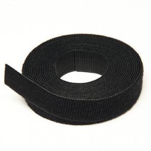 Ruban Velcro ONE WRAP noir largeur 10mm Longueur 25M