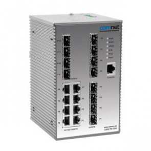 Managed Switch. 8 Port 10/100/1000Tx. 12 Port 100/1000Fx SFP. DIN/Wall Mount.
