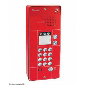 PORTIER SECURACCESS PMR CLAVIER 3BT ROUGE
